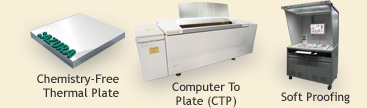 Chemistry-Free Thermal Plate, Computer to Plate (CTP), Soft Proofing